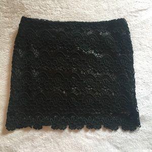 Lush Crochet black miniskirt